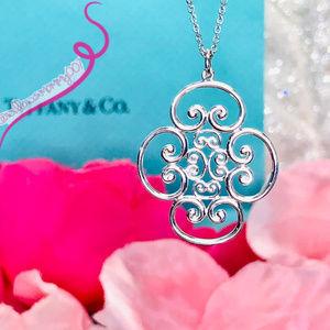 NWOT Tiffany Venezia Goldoni Quadruplo 925 Pendant